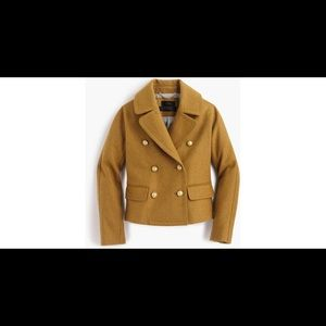 J CREW Cropped Double Breasted Peacoat Coat 16